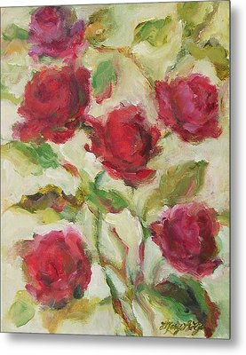 Roses Metal Print by Mary Wolf
