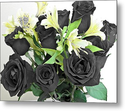 Metal Print featuring the photograph Roses Of A Different Color by Ella Kaye Dickey