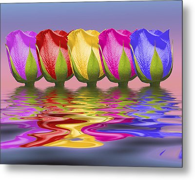 Roses Rising Metal Print by Tom Mc Nemar