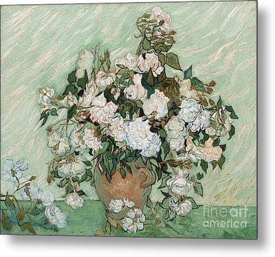 Roses Metal Print by Vincent Van Gogh