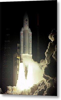 Rosetta Spacecraft Launch Metal Print