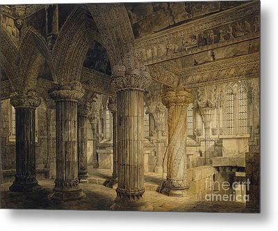 Roslyn Chapel Metal Print by Joseph Michael Gandy