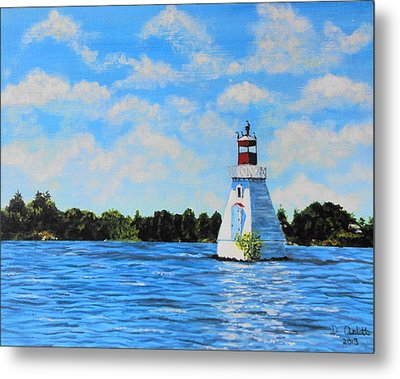 Rosseau Lighthouse Metal Print by Diane Arlitt