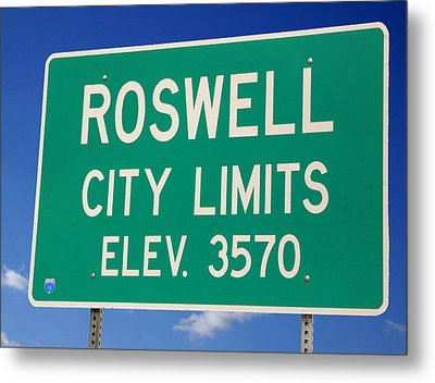 Roswell New Mexico Metal Print by Bob Pardue