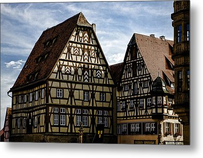 Rothenburg Architecture Metal Print by Joanna Madloch