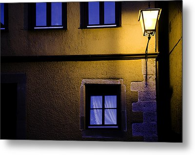 Rothenburg By Night Metal Print by Joanna Madloch