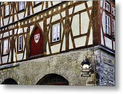Rothenburg Geometry Metal Print by Joanna Madloch
