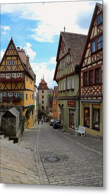 Rothenburg Ob Der Tauber Metal Print by Corinne Rhode
