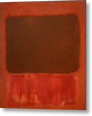 Rothko's Mulberry And Brown Metal Print by Cora Wandel