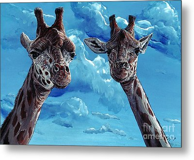 Rothschild Giraffe Metal Print