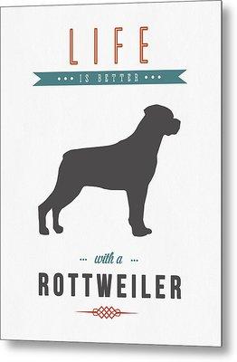 Rottweiler 01 Metal Print