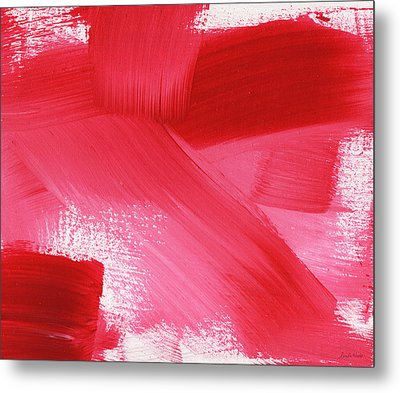 Rouge 2- Horizontal Abstract Painting Metal Print