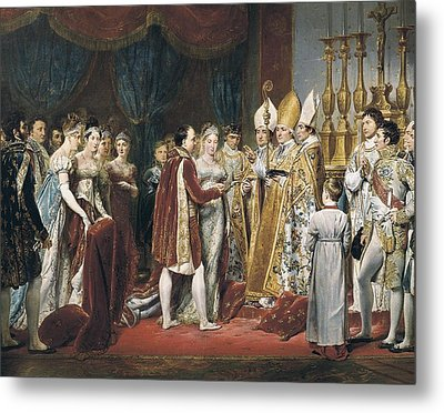 Rouget, Georges 1784-1869. The Marriage Metal Print