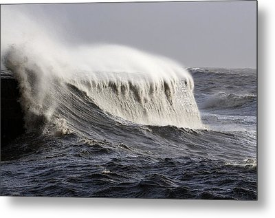Rough Sea Metal Print by Colin Varndell