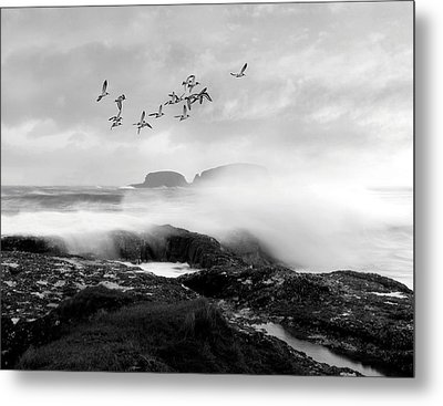 Metal Print featuring the photograph Rough Seas by Roy  McPeak