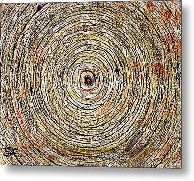 Round And Around Metal Print by Carla Sa Fernandes