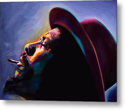 Round Midnight Thelonious Monk Metal Print by Vel Verrept