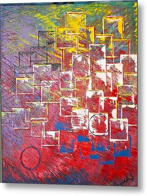 Round Peg Metal Print by George Riney