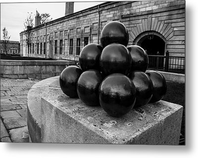 Round Shot At The Old Fort Metal Print