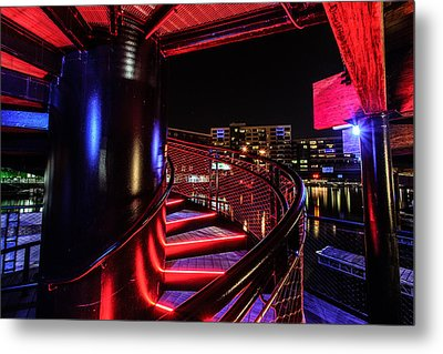 Round Staircase Metal Print by Randy Scherkenbach