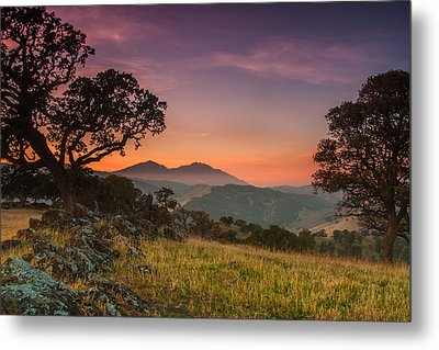 Round Valley After Sunset Metal Print by Marc Crumpler