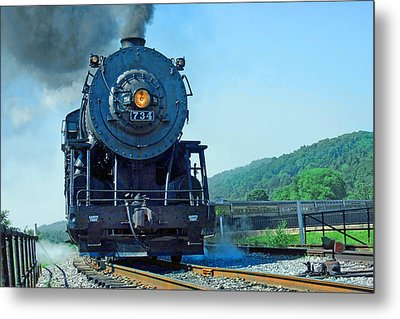 Metal Print featuring the photograph Rounding The Bend by Mike Flynn
