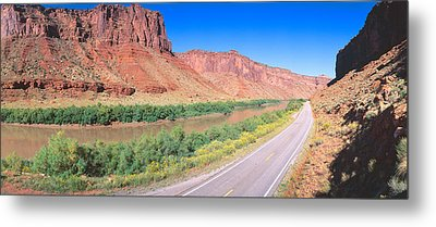 Route 128, Colorado River, View Metal Print by Panoramic Images