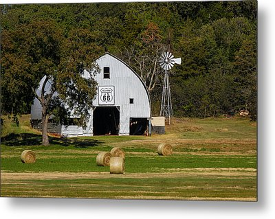 Route 66 Barn Metal Print