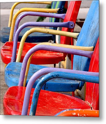 Route 66 Chairs Metal Print by Art Block Collections