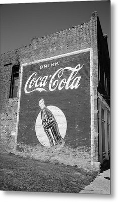 Route 66 - Coca Cola Ghost Mural Metal Print by Frank Romeo