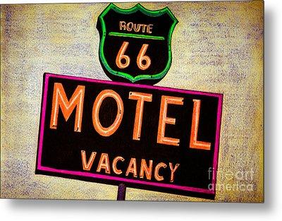 Route 66 Drawing Metal Print by Dan Julien