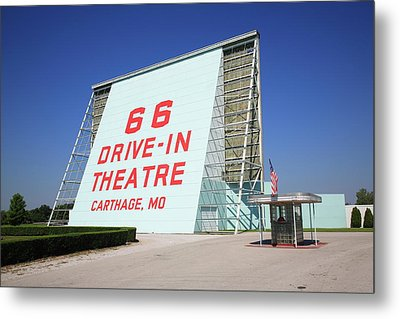 Route 66 Drive-in Theatre Metal Print by Frank Romeo