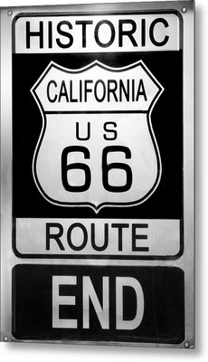 Route 66 End Metal Print