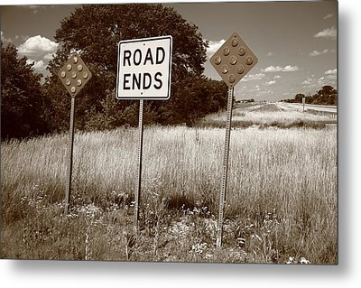 Route 66 - End Of The Road Metal Print by Frank Romeo