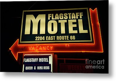 Route 66 Flagstaff Motel Metal Print by Bob Christopher