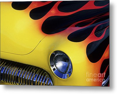 Route 66 Flaming Rod Metal Print by Bob Christopher