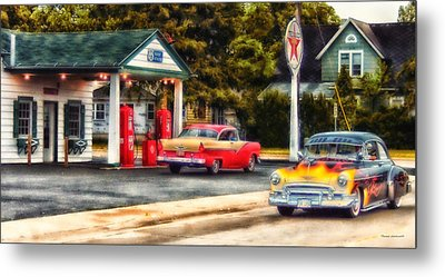 Route 66 Historic Texaco Gas Station Metal Print by Thomas Woolworth