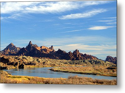 Route 66 Needles Mtn Range Two  Sold Metal Print