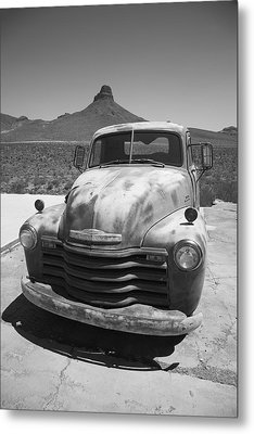 Route 66 - Old Chevy Pickup Metal Print by Frank Romeo