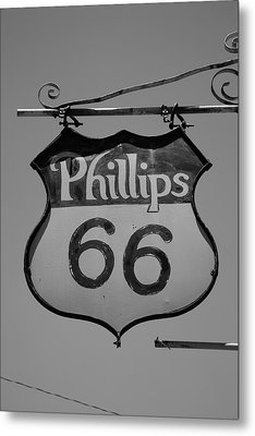 Route 66 - Phillips 66 Petroleum Metal Print by Frank Romeo