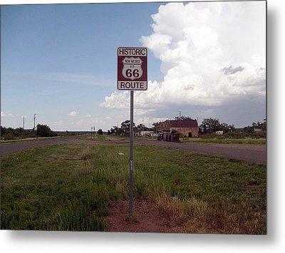 Route 66 Metal Print by Philomena Zito