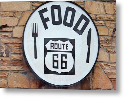Route 66 Restaurant  Metal Print by Cynthia Guinn