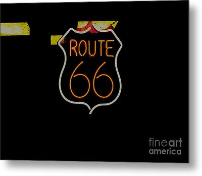 Route 66 Revisited Metal Print by Kelly Awad