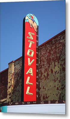 Route 66 - Stovall Theater Metal Print by Frank Romeo