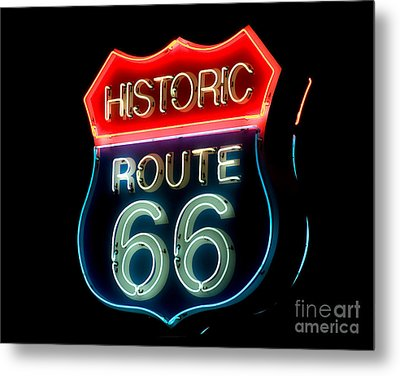 Route 66 Metal Print by Theodore Clutter