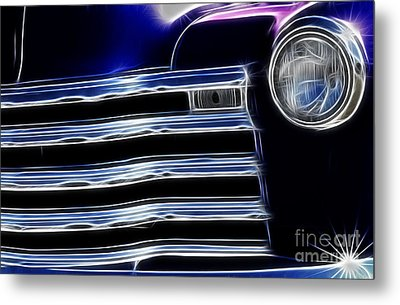 Route 66 Well Grilled Metal Print by Bob Christopher
