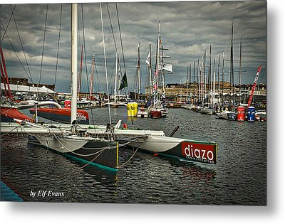 Metal Print featuring the photograph Route Du Rhum Ready by Elf Evans