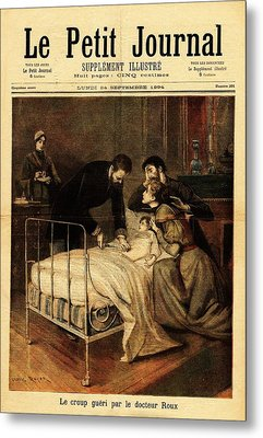 Roux Treating Croup Metal Print by National Library Of Medicine