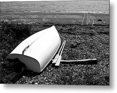 Row Boat In Maine Metal Print by Tony Grider