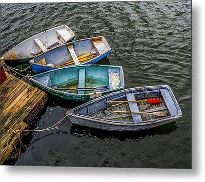 Row Boats At Dock Metal Print